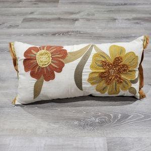Pier 1 Floral Accent Lumbar Pillow